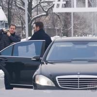 """Chris Pratt. Фотоколл фильма """"Пассажиры"""". 4 декабря 2016 года, Москва, ВДНХ, монумент «Покорителям космоса»."""